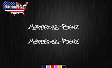 "Mercedes-Benz graffiti 2X 9"" Decal Sticker Stickers Car Window (Choose Color)"