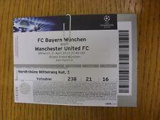 09/04/2014 billet: Bayern Munich/Manchester United [Ligue des Champions] (plié)