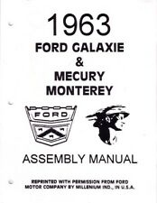 1963 Ford Galaxie Mercury Monterey Assembly Manual Book Instruction Illustration