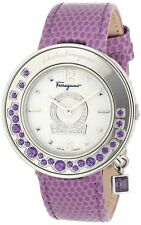 Salvatore Ferragamo Women FF5040013 Gancino Sparkling Polished SS DIAMONDS Watch