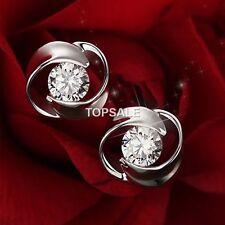925 Sterling Silver Plated Rhinestone Crystal Earrings