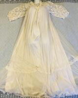 Jenelle of California SHEER CHIFFON Bridal Peignoir Robe Nightgown Negligee Set