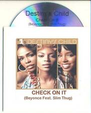 DESTINY'S CHILD Check On It RARE Australian PROMO CD Beyonce