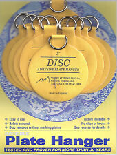 Original Invisible Disc Adhesive Plate Hangers Set of Ten 3 Inch