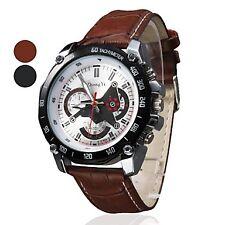 Men's PU Military Wrist Watch