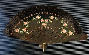 Rare Vintage Antique Japanese  Hand Painted Ladies Fan