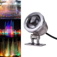 10W AC85-265V RGB LED Underwater Spot LightS IP68 Waterproof Pool & Spa Lights