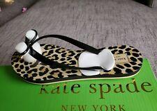 Kate Spade NY Nova Black Cheetah Leopard Print Rubber Flip Flop 6