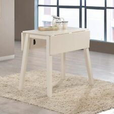 Small Dining Table Folding Drop Leaf Narrow Kitchen Breakfast Table Extendable