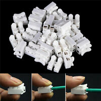 30Pcs Electrical Cable Connectors Self Locking Quick Splice Lock Wire Terminals