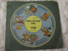 Extremely Rare 1st Pressing Winnie-The-Pooh, Christopher Robin Songs 78rpm