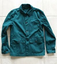 Vintage style French painter painting jacket green teal S small coat chore