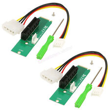 2Pack PCI-e 4x Female to NGFF PCIe M.2 M Key Male Adapter Converter Card NVMe
