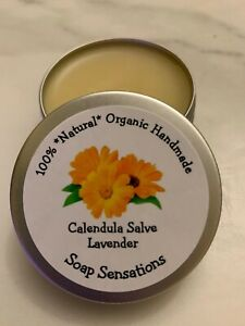 100% Organic Healing Calendula & Lavender Cream Balm  Salve + 15g Lavender Soap