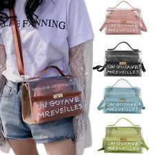 Women Shoulder Bag Transparent Jelly Laser Handbag Chain Messenger Crossbody Bag