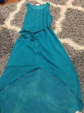 One Clothing Turquoise Green Dress Hi Low Size Medium M