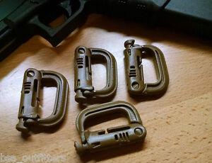 100% ITW Nexus Grimloc Carabiner 4-pack COYOTE US made
