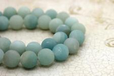 Amazonite Matte Round Ball Sphere Natural Gemstone Bead Loose Beads Full Strand