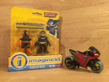HTF Imaginext DC Justice League NIGHTWING & SLADE (Deathstroke) NIP w/ Cycle