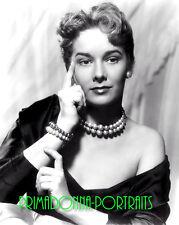 VERA MILES 8X10 Lab Photo B&W Sexy 1950s High Fashion Pearl Actress Portrait
