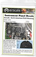 Airscale P-51D Mustang Instrument Panel Decals 1/24 04 ST