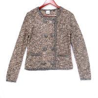 CAbi #3016 Ritz Knit Women's Tan Snap Button Cardigan Sweater - Size Small