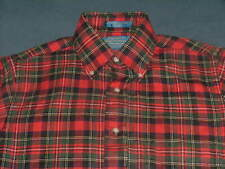 Men's Pendleton Country Traditionals Red & Green Plaid Flannel L/S Shirt Small