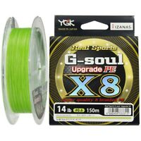 Yotsuami YGK G-Soul X8 Upgrade 14lb #0.6-150m PE 8 Braid Green Line 333315*