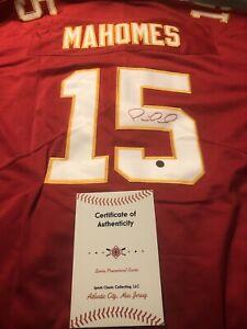 Patrick Mahomes Signed Kansas City Chiefs Red Jersey COA