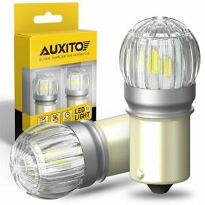 AUXITO 1156 LED Reverse Backup Light Bulbs White 6000K Canbus Error Free 6T EXC