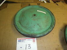 VINTAGE 12' INCH GREEN OFFICIAL SOAP BOX DERBY TIRE WHEEL NOSTALGIA GO CART PUSH