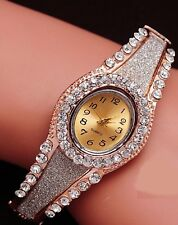 18k Rose Gold Austrian Crystal Women Bracelet Wrist watch