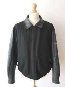 Citroen Fais Collection Men's Leather Premium Wool Blend Bomber Jacket Size S/M