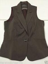 Button Polyester No Pattern Regular Waistcoats for Women