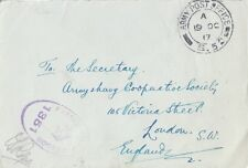 MILITARY : 1917 ARMY POST OFFICE/S52 envelope +censor