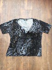 Ladies Black/ Grey/ Gold Animal Print Sparkly Top. Size S/M (10/12)