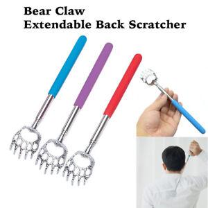Extending BEAR CLAW BACK SCRATCHER Metal Extendable Portable Telescopic Massager
