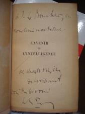 Charles MAURRAS L'avenir de l'intelligence 1917 2ième édition Envoi