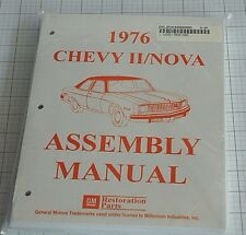 1976 NOVA  ASSEMBLY MANUAL 100'S OF PAGES OF DETAILS & ILLUSTRATIONS