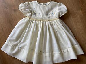 Vintage Sarah Louise 18 Months Lemon Smock Dress