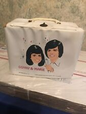 Vintage Donny and Marie vinyl Lunch box and thermos