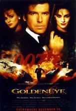 GOLDEN EYE 1995 Pierce Brosnan, Sean Bean JAMES BOND LARGE UK POSTER