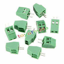 10pcs New 2 Poles KF128 2.54mm PCB Universal Screw Terminal Block Good Quality