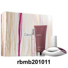 Calvin Klein Euphoria 3PC Gift Set for Women (3.4 EDP + 6.8 Lotion + Roll-On)