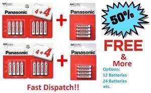 24 x AAA Genuine PANASONIC Zinc Carbon Batteries New LR03 1.5V Battery EXP 2023