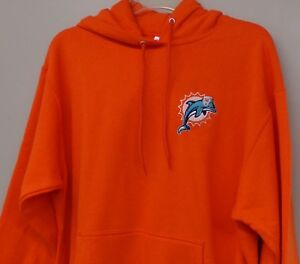 Miami Dolphins NFL Old Logo Embroidered Hooded Sweatshirt S-5XL, LT-4XLT New