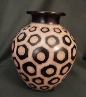 Segundo Carmen  Chulucanas Peru Signed Pottery Vase Folk Art 2003