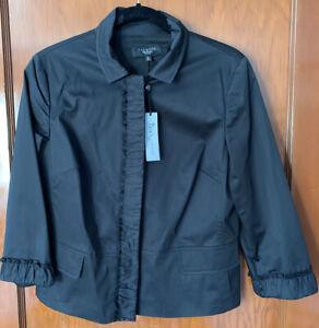 NWT Super Cute Talbots Black Blazer 12 Petite Suit Coat Grace Fit Classic New