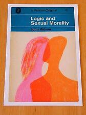 PELICAN POSTCARD ~ 'LOGIC & SEXUAL MORALITY' BY JOSH WILSON ~1965 DESIGN ~ NEW