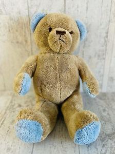 "Brookstone Bear N.A.P. Nap Tan Brown Blue Paws Ears Plush Stuffed Toy 12"""
